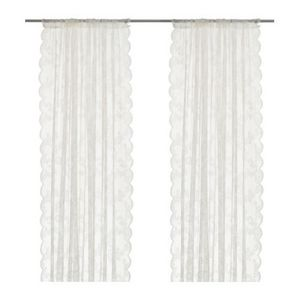 [IKEA] ALVINE SPETS 레이스 커튼 / Net curtains, 1 pair, off-white 401.718.63